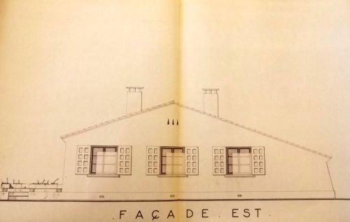 1961 Vue des futures constructions