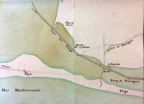 1730 Carte de La Peyrade
