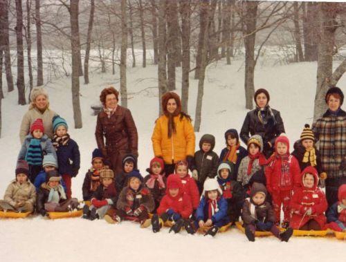 Année 1970 Classe de neige