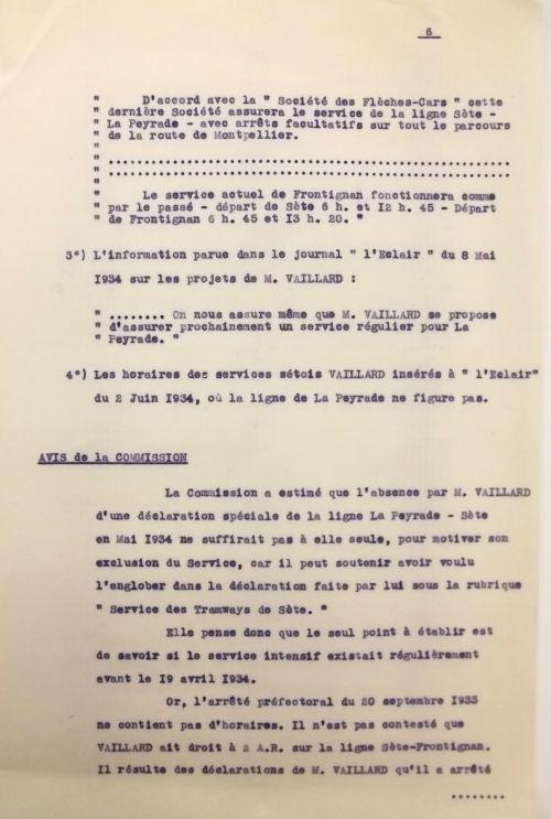 1935 28 juin rpaoort de la commission voyageurs