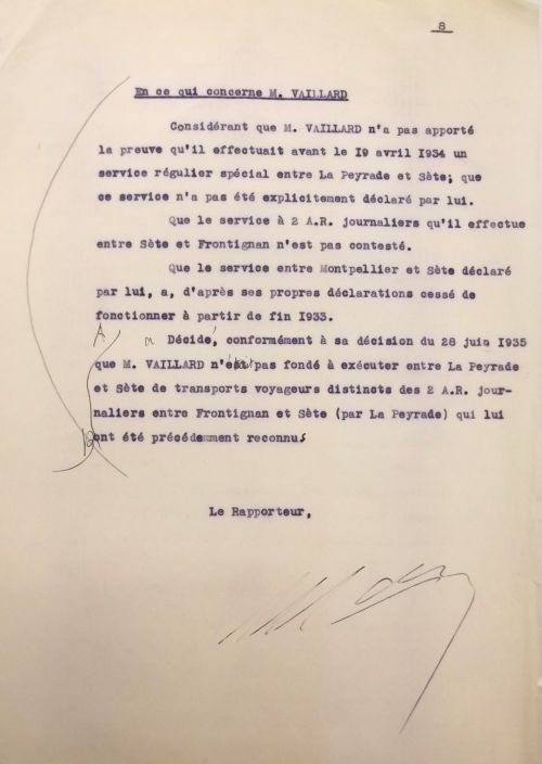 1935 28 juin rapport de la commission voyageurs
