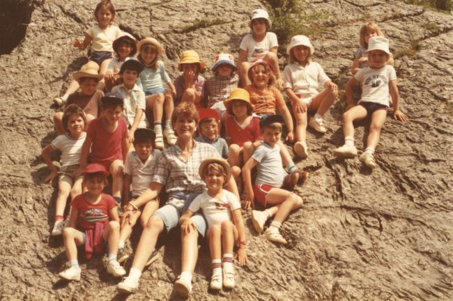 Sortie à l'Oustalet 1983