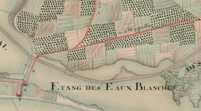 La Peyrade vers 1755