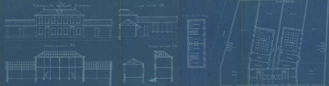 1897 Plan du futur groupe scolaire