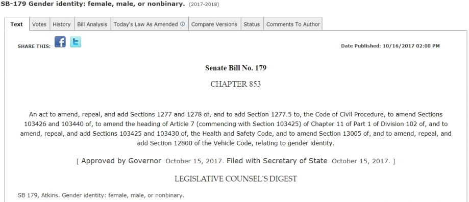 Loi Californie SB 179 Identité de Grance.jpg