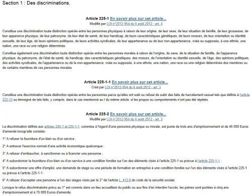LOI n° 2012-954 du 6 août 2012 relative au harcèlement sexuel,la transphobie,la discrimination de l'identité sexuelle et liée au sexe,publiée au Journal Officiel le 8 août 2012