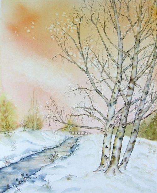 Manteaux neigeux sur l'Yvette  (2012)