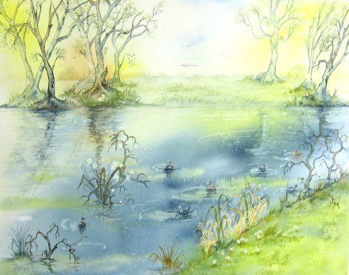 Printemps sur l'étang de Sault les Chartreux (2012)
