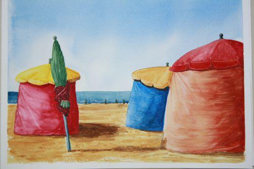 Les tentes de plage