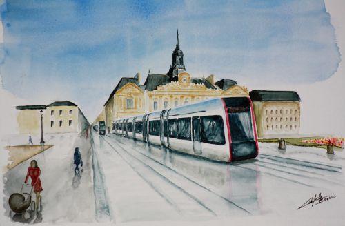 Le futur tramway de Tours