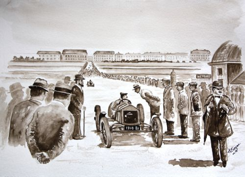 Course auto 1910