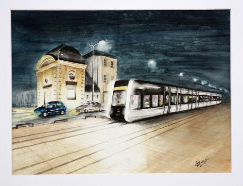 Le tram de Tours av. de la Tranchée