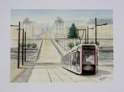 Le tram (encore !) pl. Choiseul