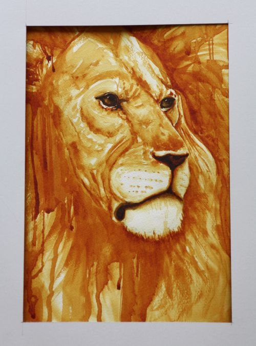 Lion en monochrome