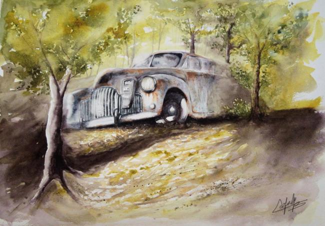 Vieux taxi US