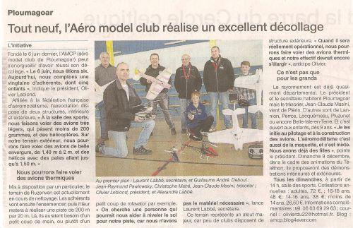 Aticle paru dans le Ouest-France du 22/11/2012.