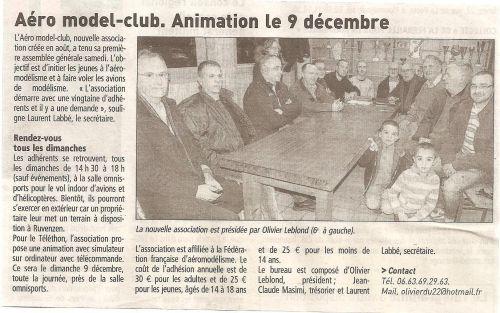 Article paru dans le Télégramme du 23/11/2012.