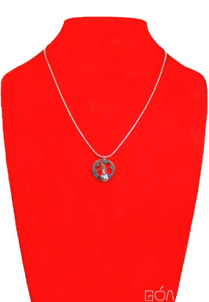 AUDACE 2C77748 - Collier hibiscus vert - BR - face - A4 - DRG.png