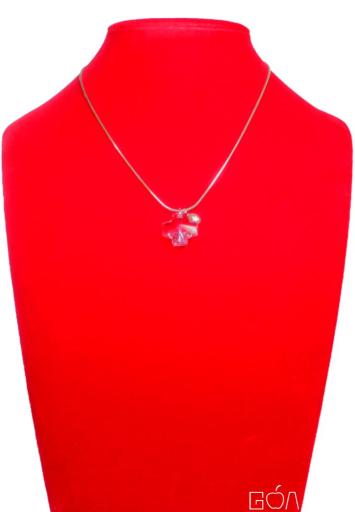AUDACE 2C76748 - Collier croix lavande - BR - face - A4 - DRG.png