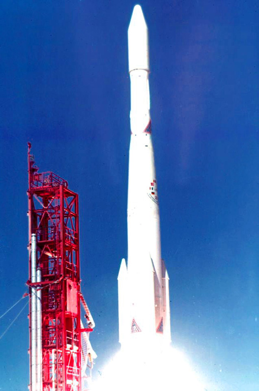 Launch on a Delta rocket from Cape Kennedy's Launch Complex 17 B on 5 December 1968.jpg