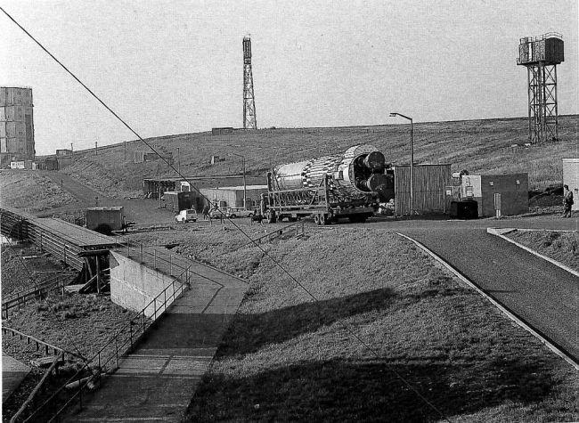 départ du site C3 à Spadeadam après les tests statiques du Blue Streak F4 le 10 Octobre 1965 pour préparatifs en vue du transfert en Australie