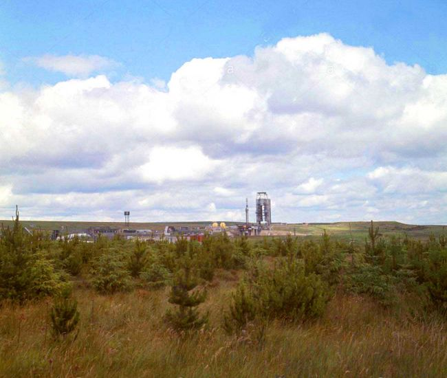 vue de spadeadam Gisland dans le cumberland tirs statique de la fusée F4 le 3 août 1965 (angleterre)
