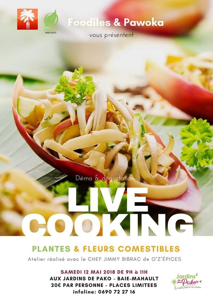 Live cooking plantes et fleurs comestibles sam 120518.jpeg