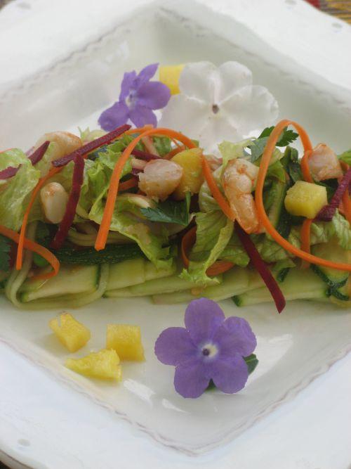 Salade fraîcheur au Gambas