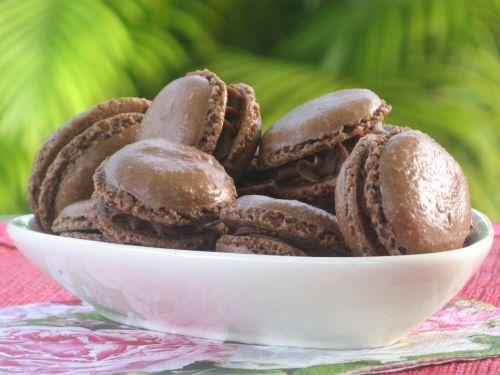 Macarons chocolat et sa ganache chocolat