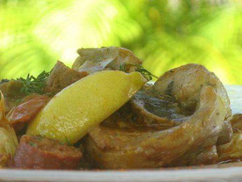 Osso bucco de dinde aux saveurs méditerranéennes