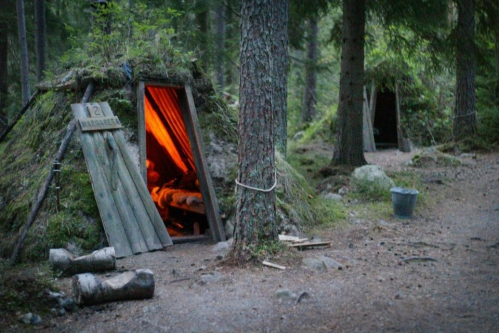 Kolarbyn is a hotel in Sweden that consists of 12 huts lit.jpg