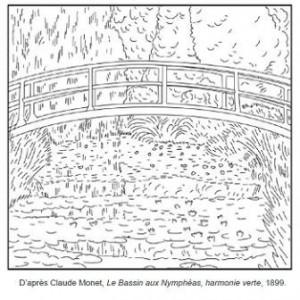 Coloriage-Claude-Monet-Le-bassin-aux-Nymphéas-Harmonie-verte-300x300.jpg