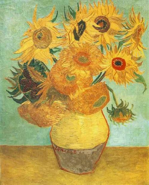 Vase avec douze tournesols (Arles janvier 1889). Musée d'art de Philadelphie États-Unis..jpg