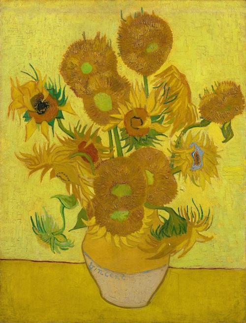 Vase avec quinze tournesols (Arles janvier 1889). Musée van Gogh Amsterdam Pays-Bas..jpg