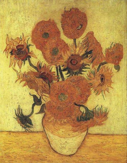 Vase avec quinze tournesols (Arles janvier 1889). Musée d'art Sompo Tokyo Japon..jpg