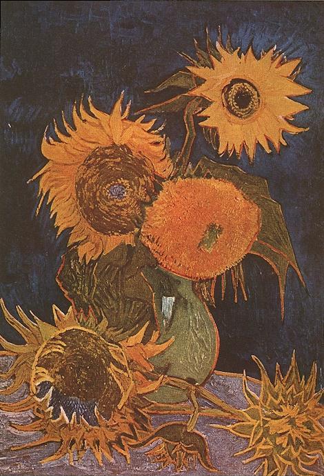 Vase avec cinq tournesols (Arles août 1888).jpg