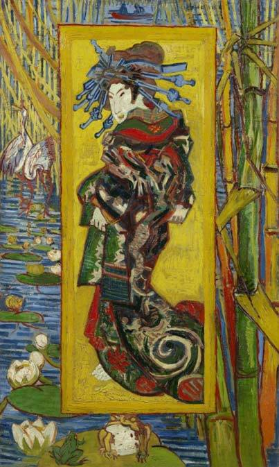 Vincent van Gogh (1853-1890) Courtesan - after Eisen 1887. Van Gogh Museum Amsterdam..jpg