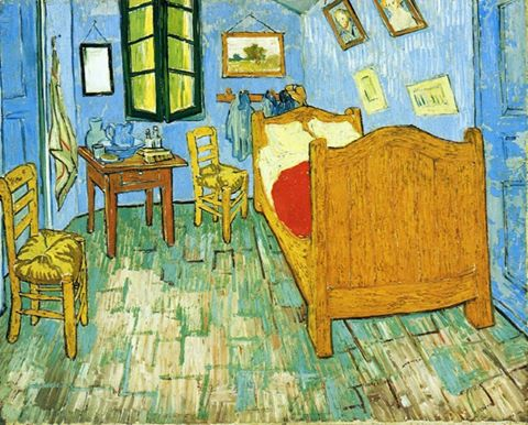 Vincent Van Gogh - Vincent's Bedroom in Arles (1889)..jpg