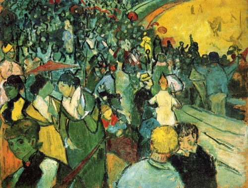 Vincent van Gogh. Spectators in the Arena at Arles 1888.jpg