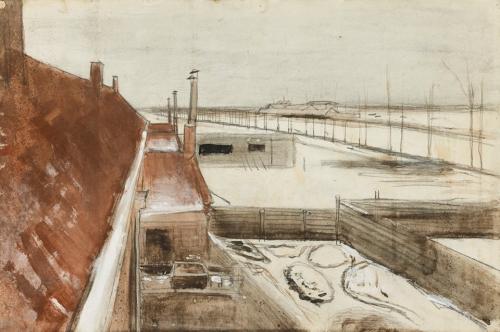 Vincent van Gogh (1853-1890) View from the Window of Vincent's Studio in Winter 1882-83.jpg