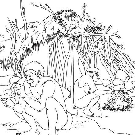 coloriage-scene-de-vie-quotidienne-d-un-groupe-d-homo-erectus_494.jpg