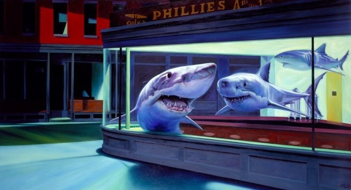 Night Sharks by Ron English.jpg