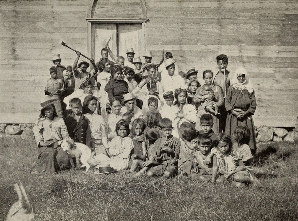 A_Group_of_Easter_Islanders_Outside_the_Church_Door_The_Mystery_of_Easter_Island_published_1919.jpg