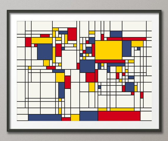 Mappemonde dans le style Piet Mondrian.jpg