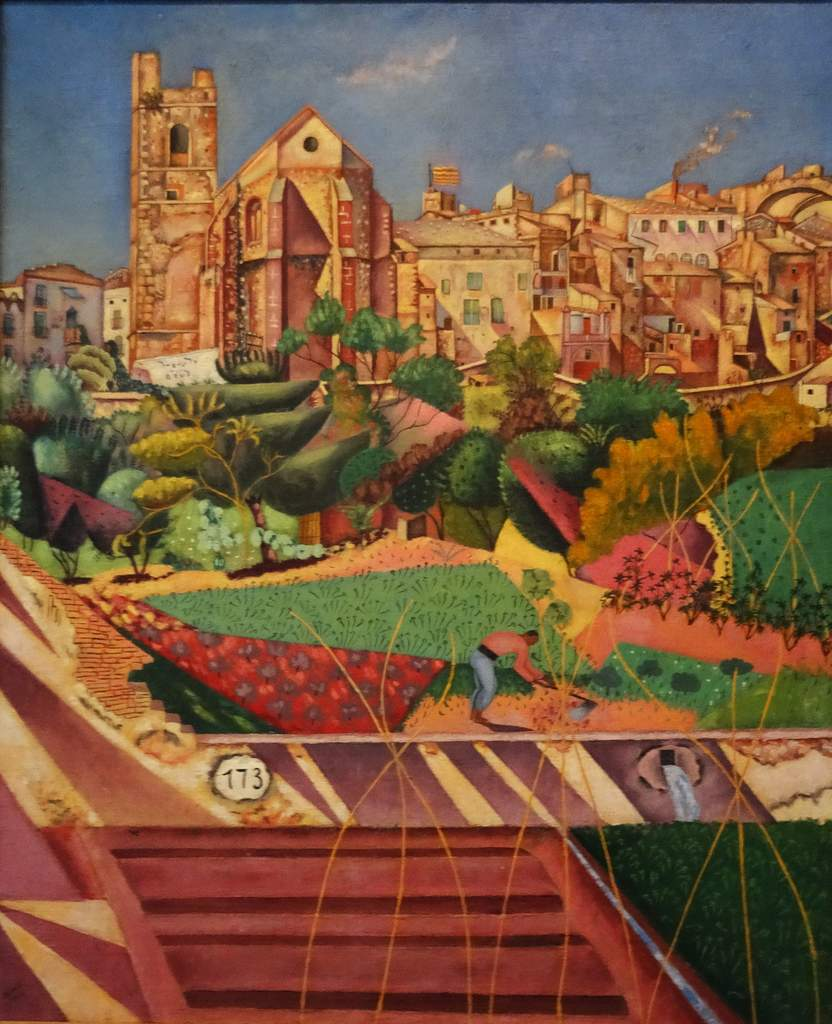 Joan Miro - Mont-Roig église et village - 1919.jpg