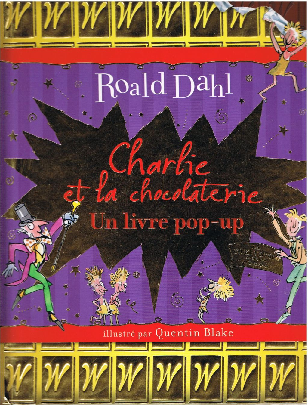 livre pop up charlie et la chocolaterie de roald dahl ecole des c dres qu tigny. Black Bedroom Furniture Sets. Home Design Ideas