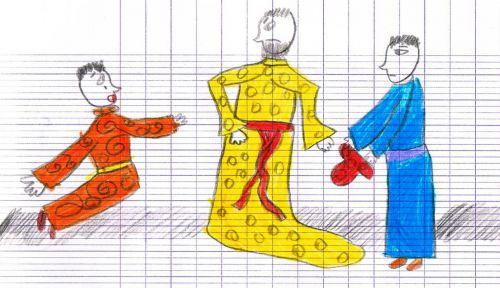 Les dessins d'Angèle  CE1 - Les trois chinois - 2012