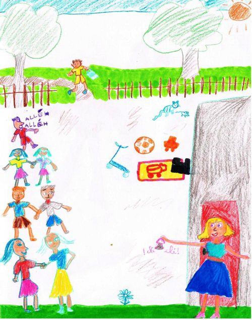 Les dessins d'Angèle - CE1 - 2012-2013 - La Rentrée