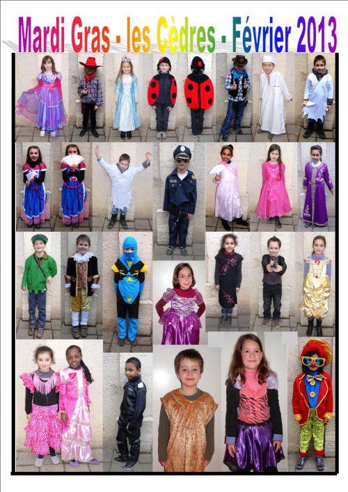 Mardi Gras - Carnaval Février 2013 - Enfants déguisés