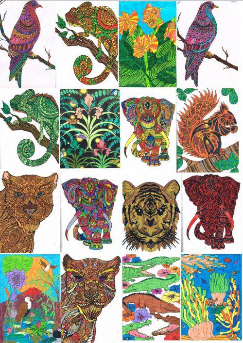 Affiche composée de divers coloriages - Janvier 2015